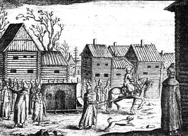 Русский город XVII века. Иностранная гравюра