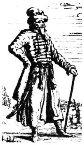Стрелецкий голова. Гравюра XVII века