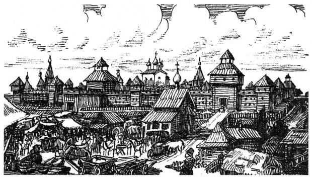 Русский город XVII века