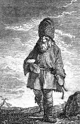 Крестьянин. Гравюра XVII века