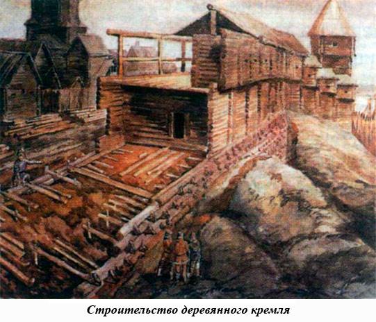 Строительство деревянного кремля при Юрии Долгоруком