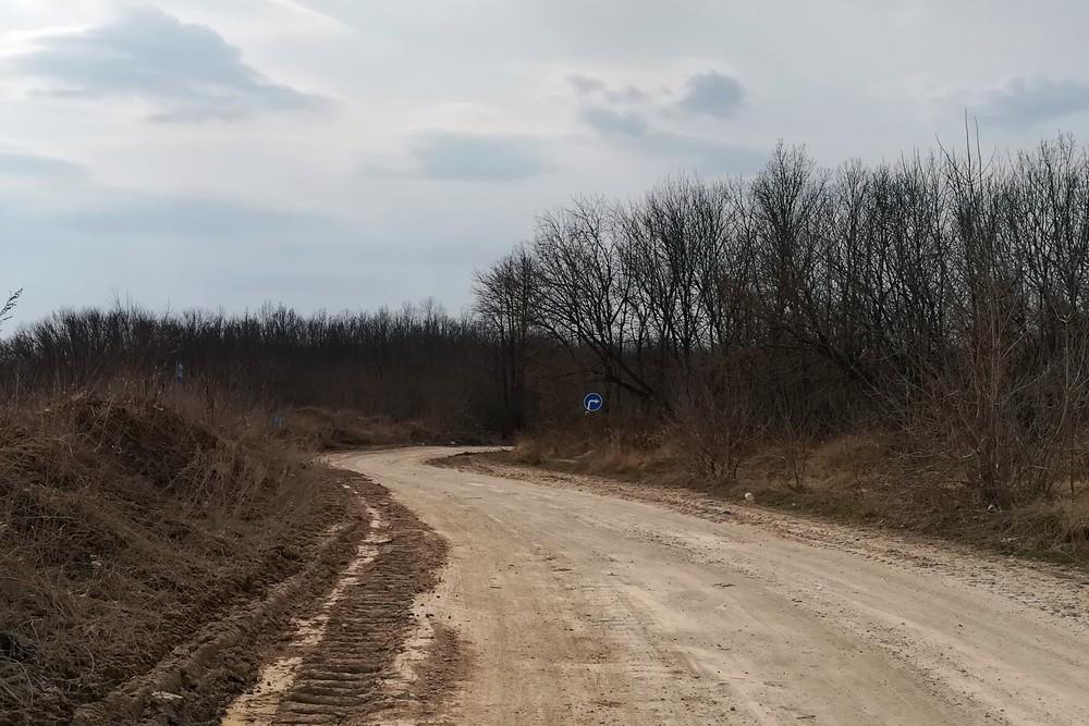 Дорога вблизи Лавского карьера
