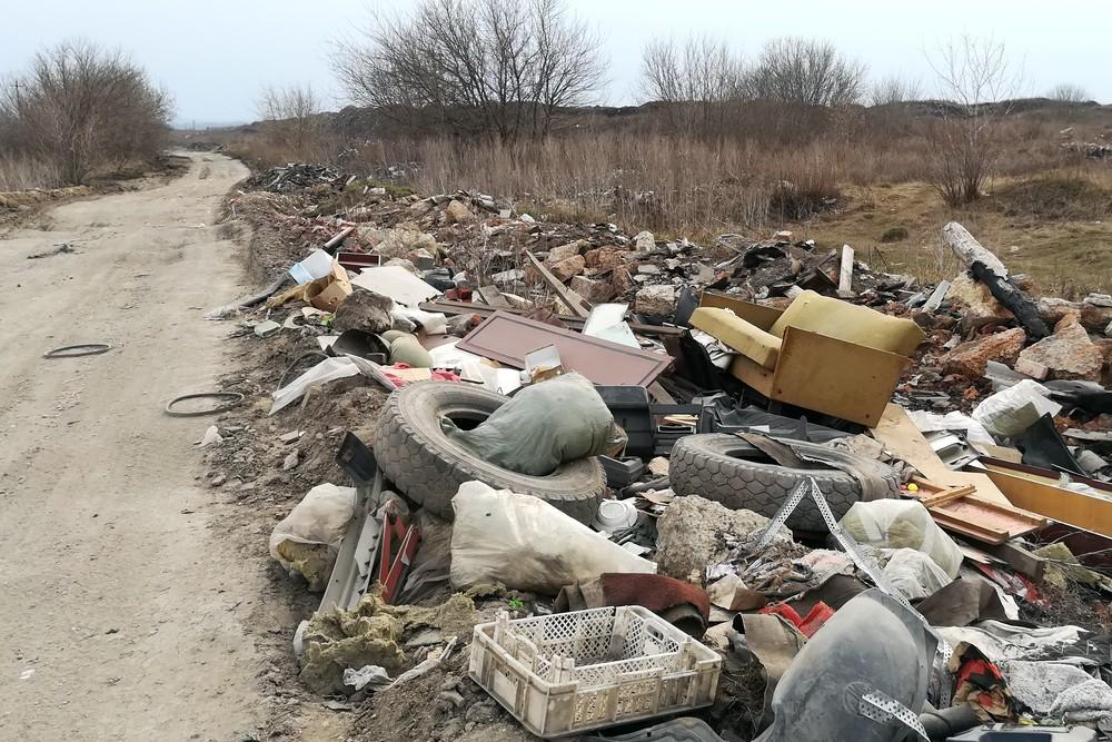 Мусор в окрестностях елецкой городской свалки