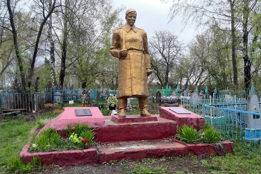 Братская могила в селе Большая Боевка Липецкой области