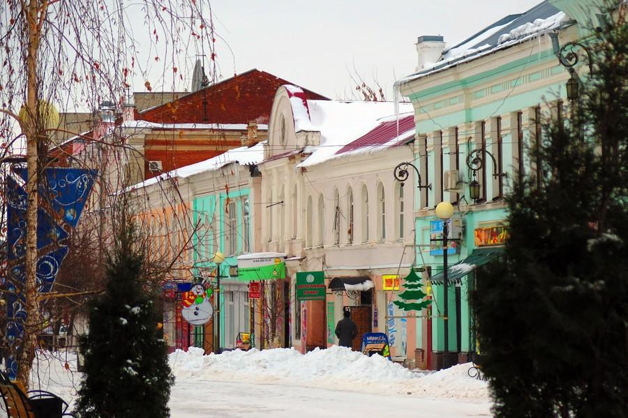 Торговая улица Мира в Ельце