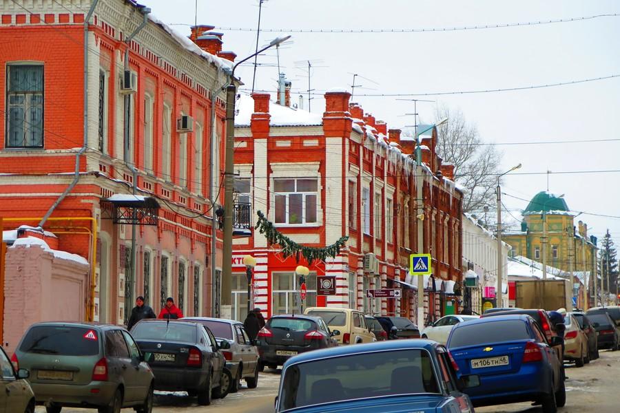 Дома на улице Льва Толстого в Ельце
