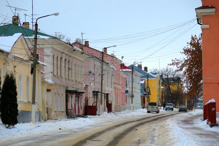 Улица Октябрьская в Ельце